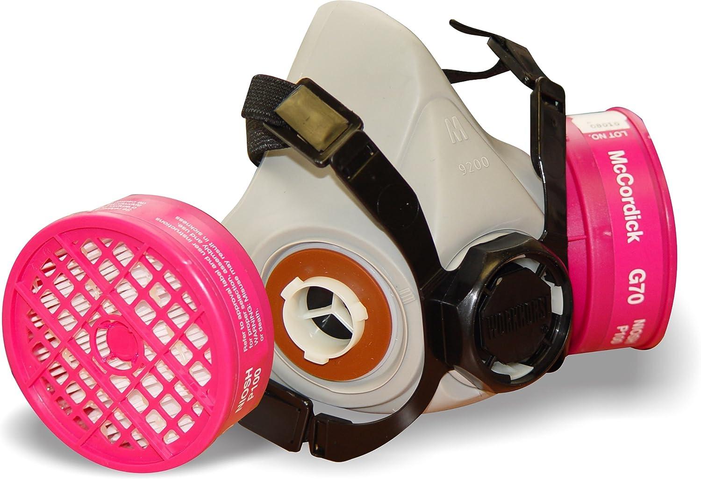workhorse dual cartridge half mask p100 asbestos & lead respirator