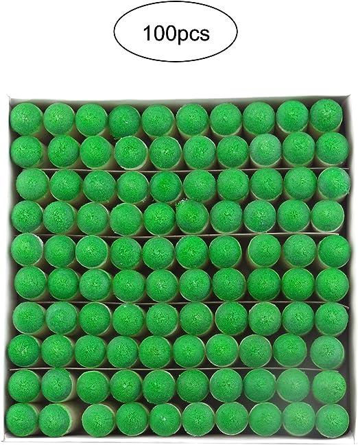 Sauton - 100 piezas de puntas para tacos de billar o piscina, punta de recambio: Amazon.es: Deportes y aire libre