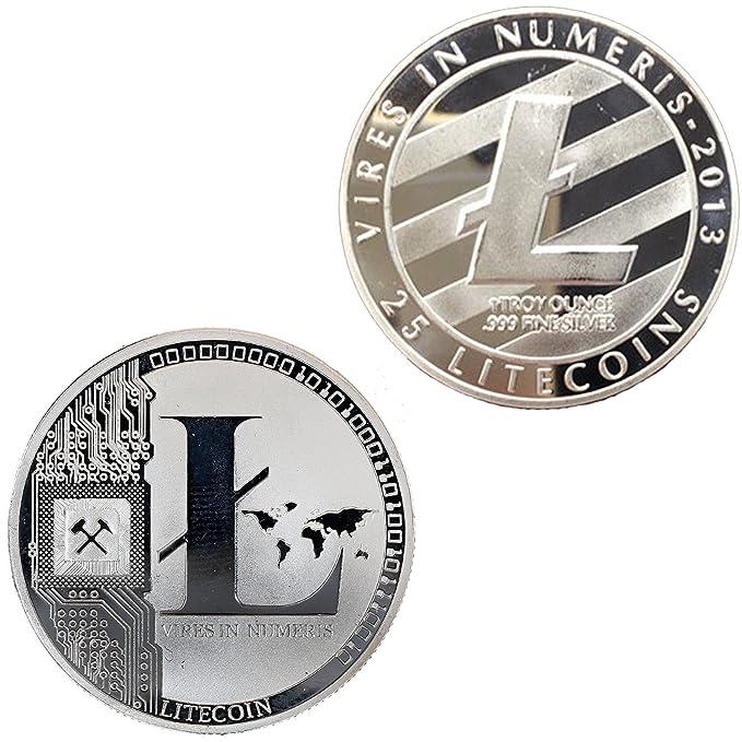 Amazon.com: Litecoin cryptocurrency chapado en plata de ...