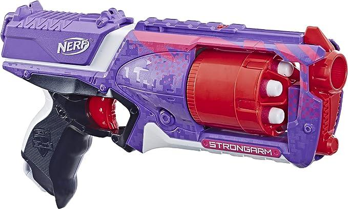 NERF N-STRIKE ELITE Gun Strongarm Revolving Foam Dart Blaster Shooter Gun
