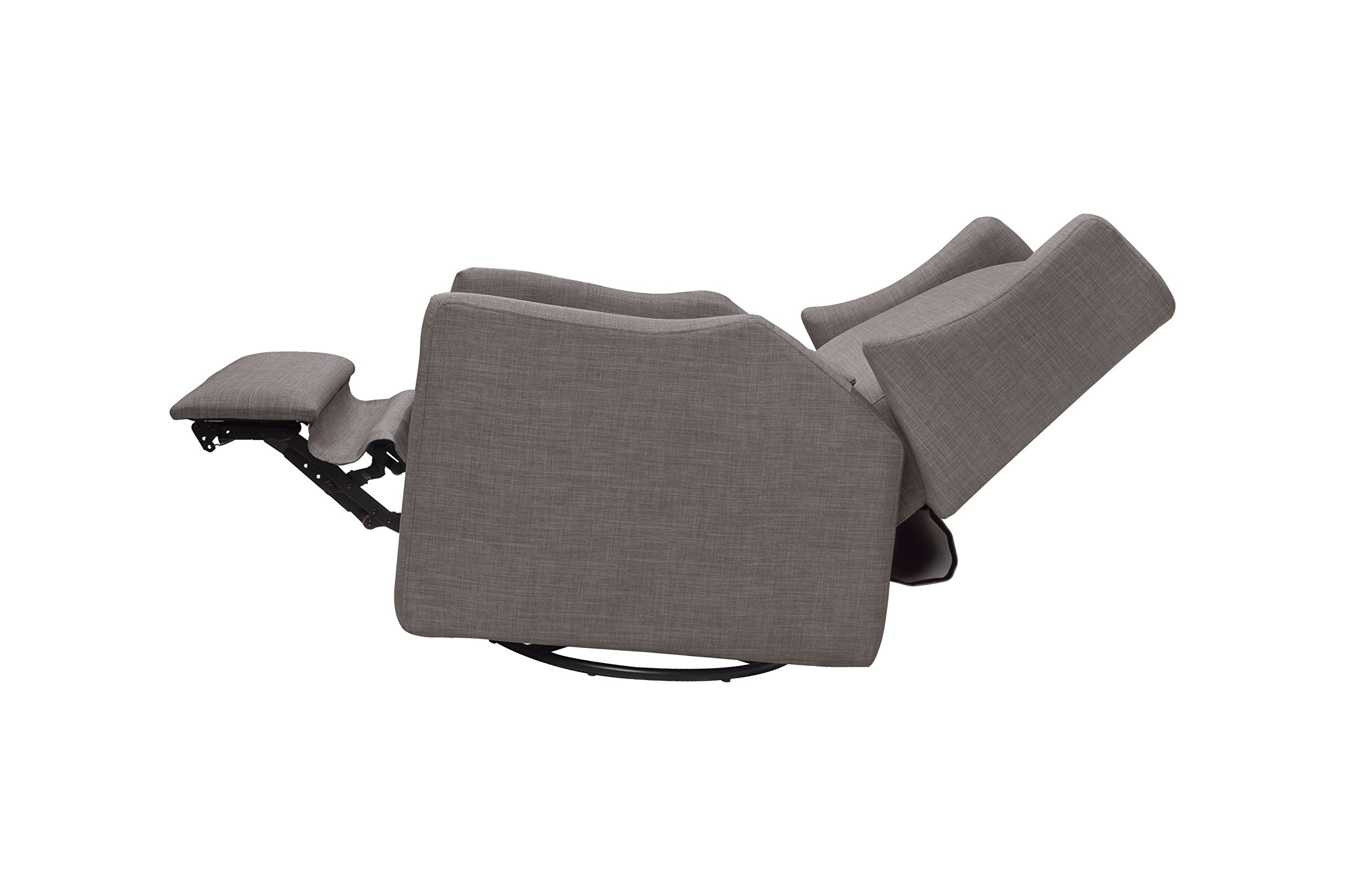 Babyletto Kiwi Electronic Recliner and Swivel Glider with USB Port, Grey Tweed by babyletto (Image #9)