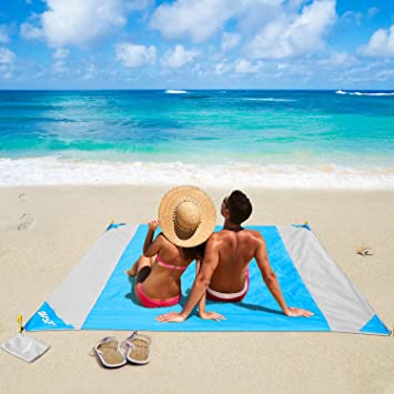 Manta portátil impermeable,Nylon Al aire libre Manta de playa Picnic Resistente a la arena