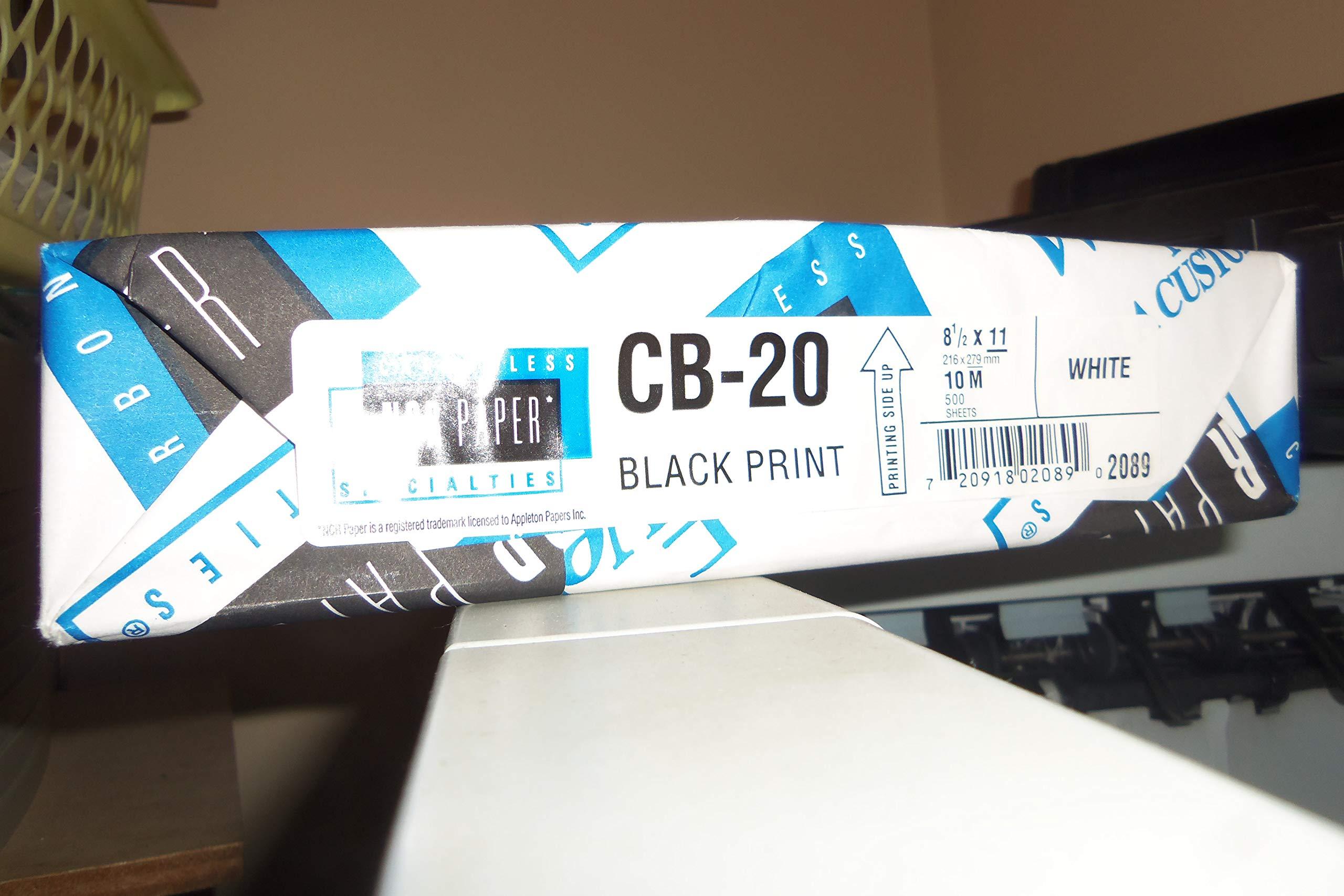 NCR Paper* Brand Superior CB White Carbonless Paper - 8 1/2 x 11 in 21 lb Bond 500 per Ream