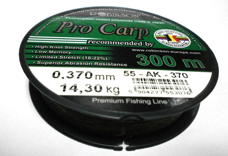 Durchmesser:0.37mm Pro Carp Fluorocarbon Coated 300m Karpfenschnur