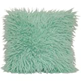 Brentwood Originals Mongolian Pillow, 16x16, Mint