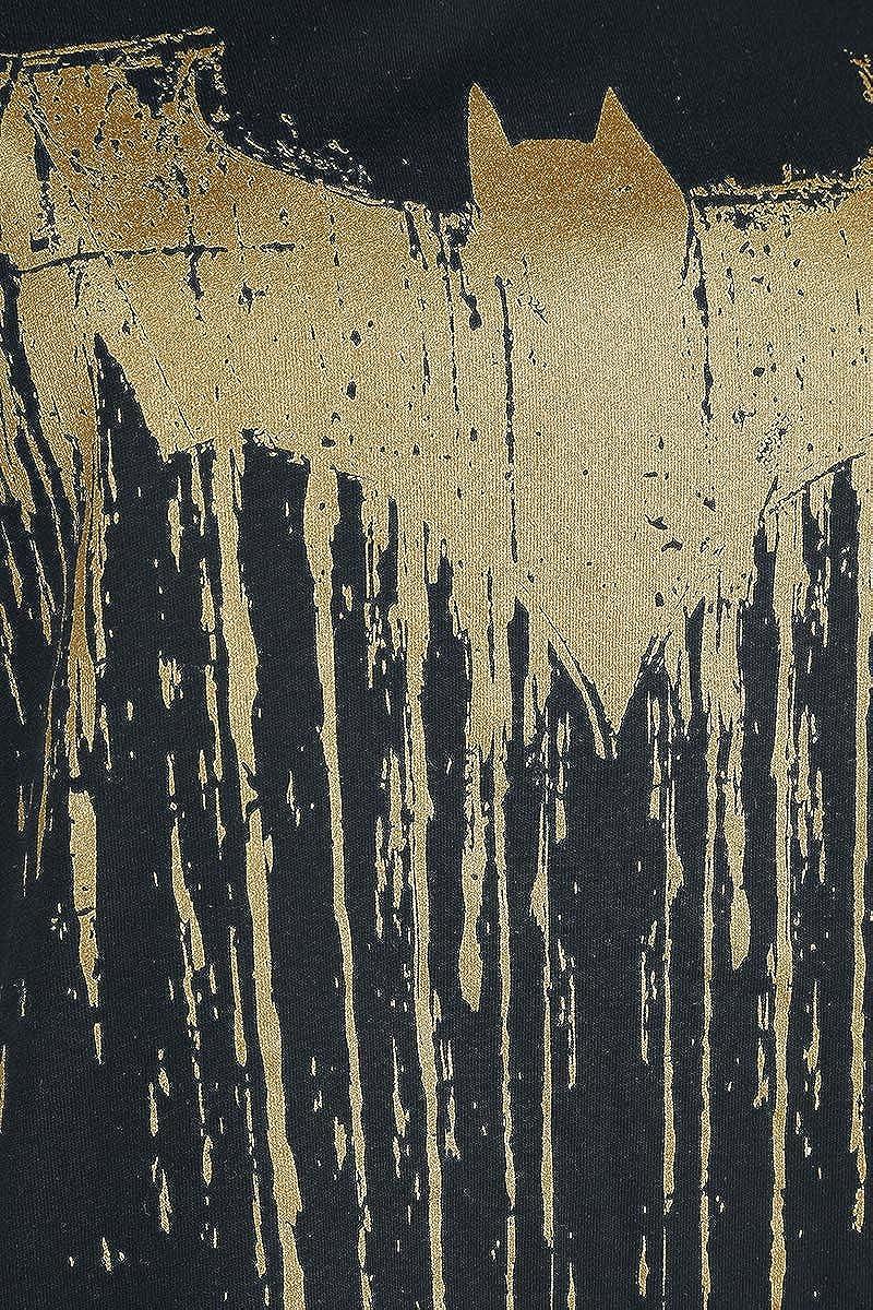 Fan-Merch Superhelden Film Batman Logo Dripping Frauen T-Shirt schwarz DC Comics