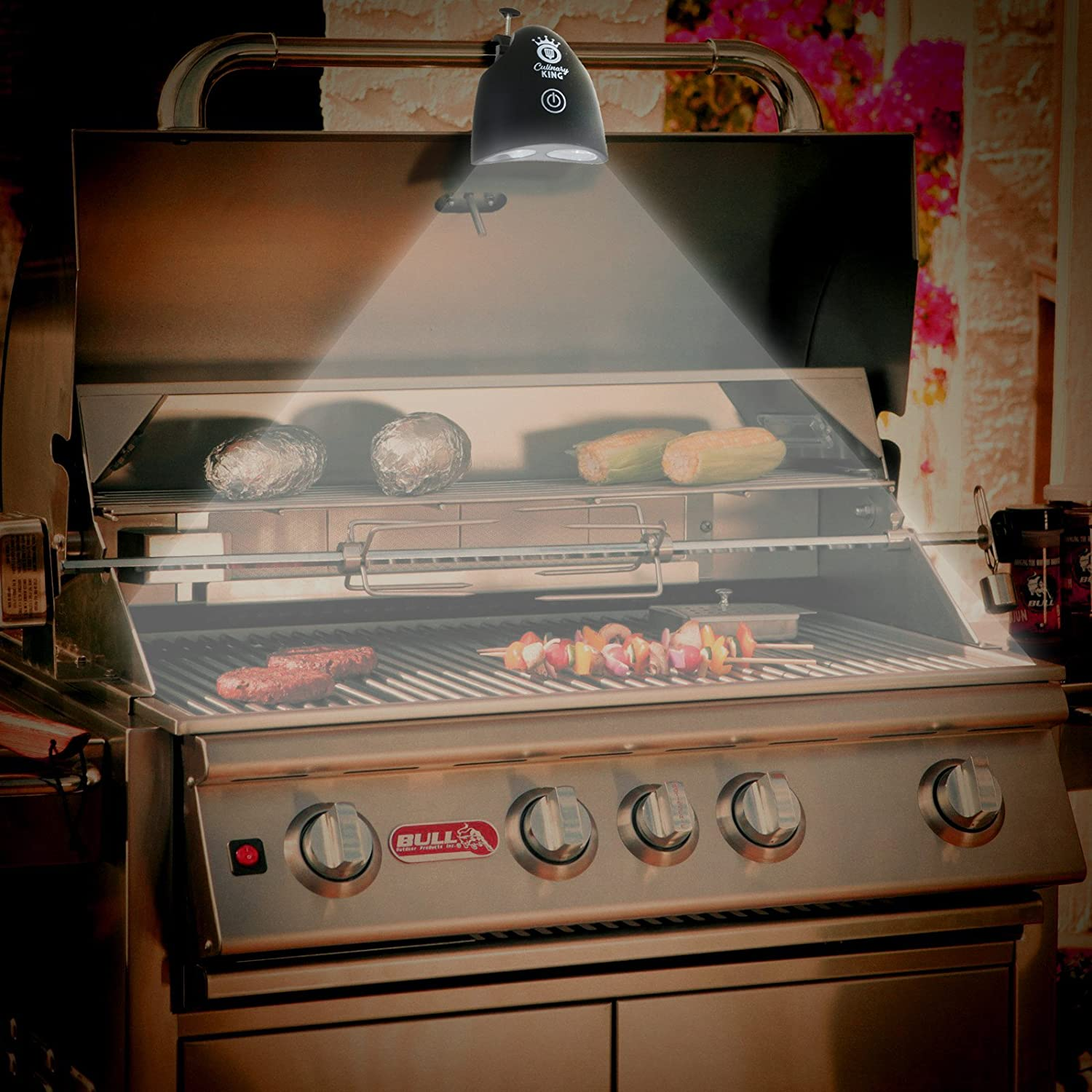 Culinary King LED Barbecue Grill Light 50,000 Hour Lifespan Fully-Adjustable All-Weather Lifetime Guarantee