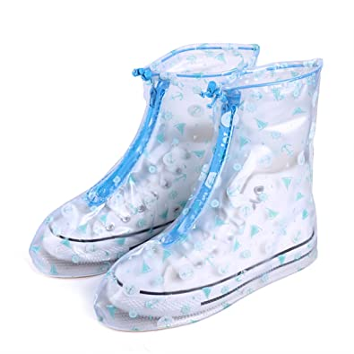 d36a140aeffa4 CISSETINA Teenager Kid Reusable Waterproof Non-Slip Shoe Covers Unisex Rainy  Shoes Covers (XL, A0003-Blue): Buy Online at Low Prices in India - Amazon.in