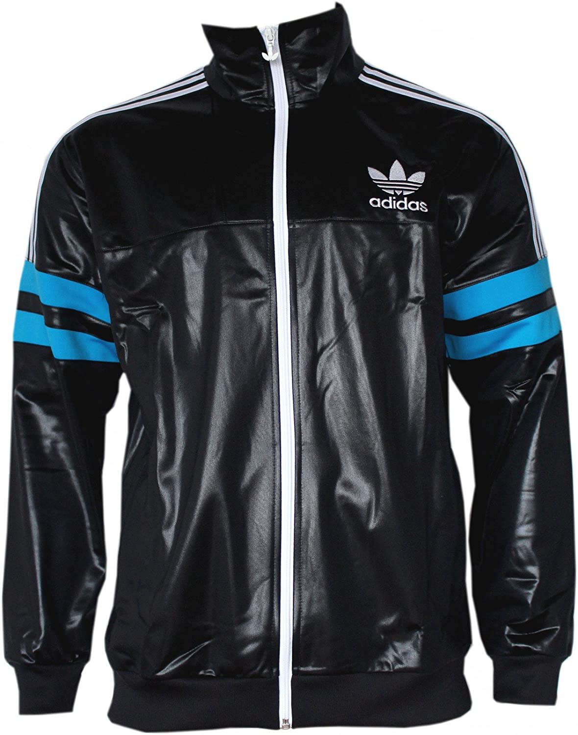 241286c60229 Adidas Originals Men s Air Force Black Chile 62 Retro Flock Zip Up Track  Top Jacket (X Small)  Amazon.co.uk  Sports   Outdoors