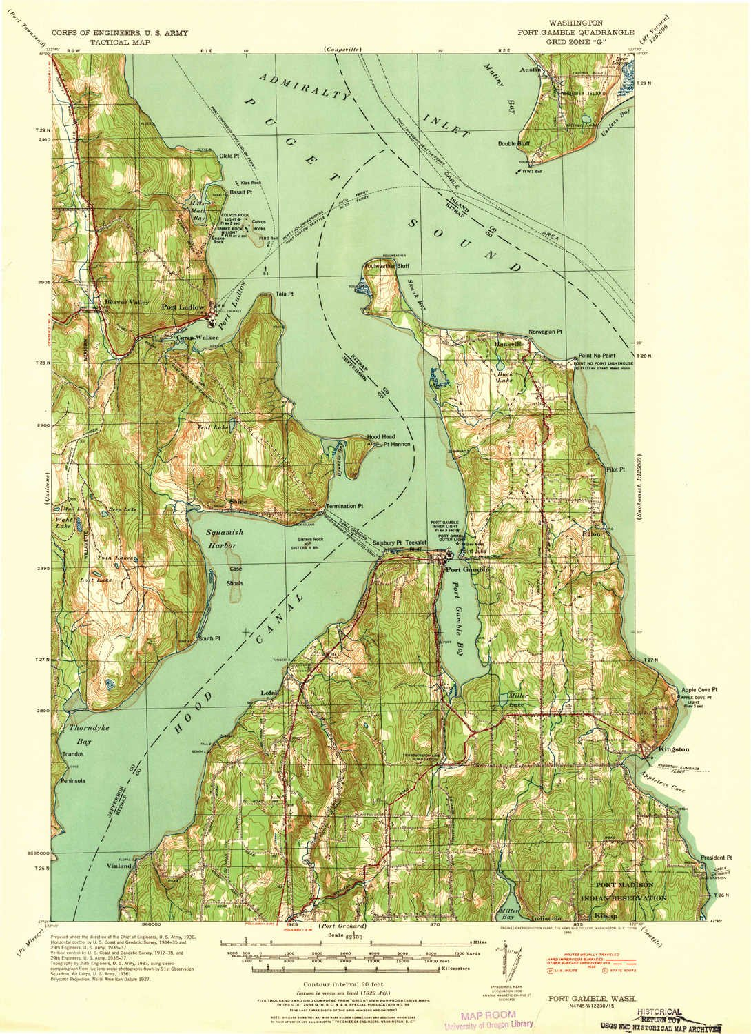 Port Gamble Washington Map.Amazon Com Yellowmaps Port Gamble Wa Topo Map 1 62500 Scale 15 X