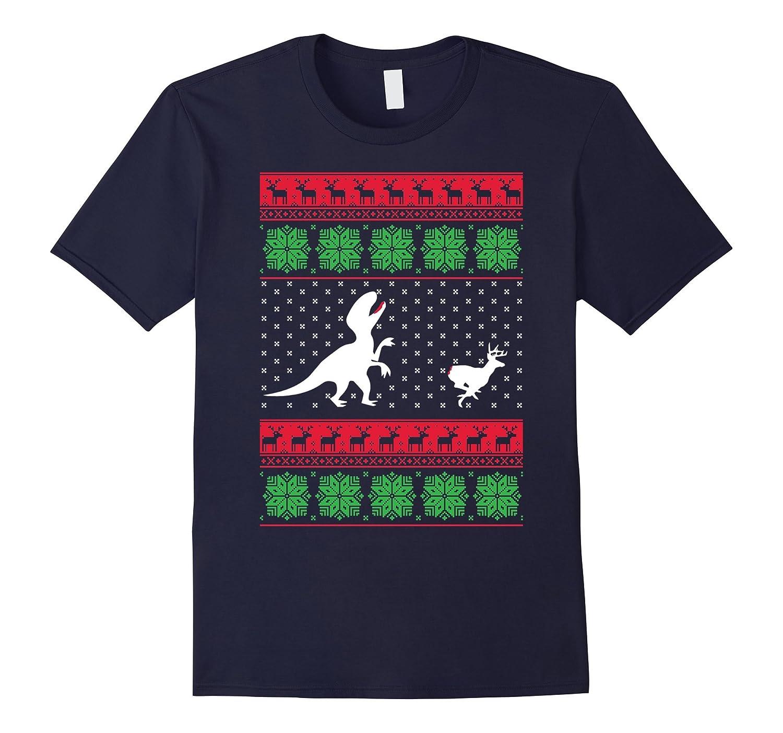 Christmas T-Rex Dinosaur Reindeer Deer T-shirt-Art