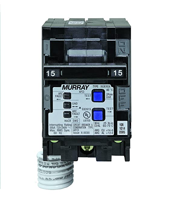Murray MP215AFC 15-Amp 2 Pole 120-Volt Combination Type Arc Fault Circuit Interrupter