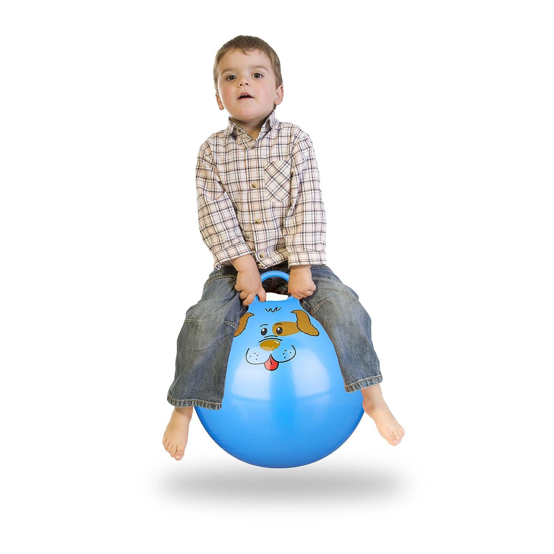 Relaxdays Bola Saltarina para Niños, Pelota Saltar Animales, Balón ...