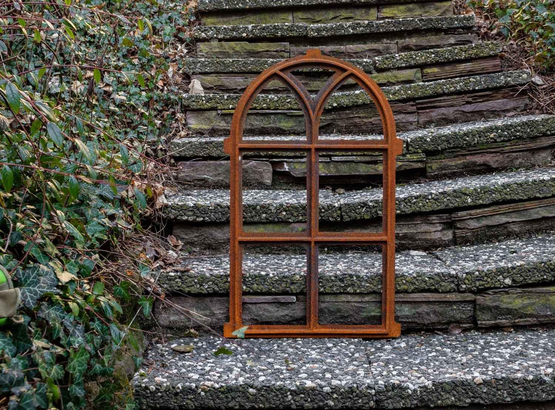 Nostalgie Stallfenster 68x40cm Fenster Gusseisen Eisen Rahmen Rost ...
