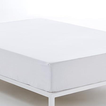ES-TELA - Sábana bajera ajustable COMBI color Blanco - Alto especial (35 cm) - Cama de 180 cm. - 50% Algodón / 50% Poliéster - 144 Hilos: Amazon.es: Hogar