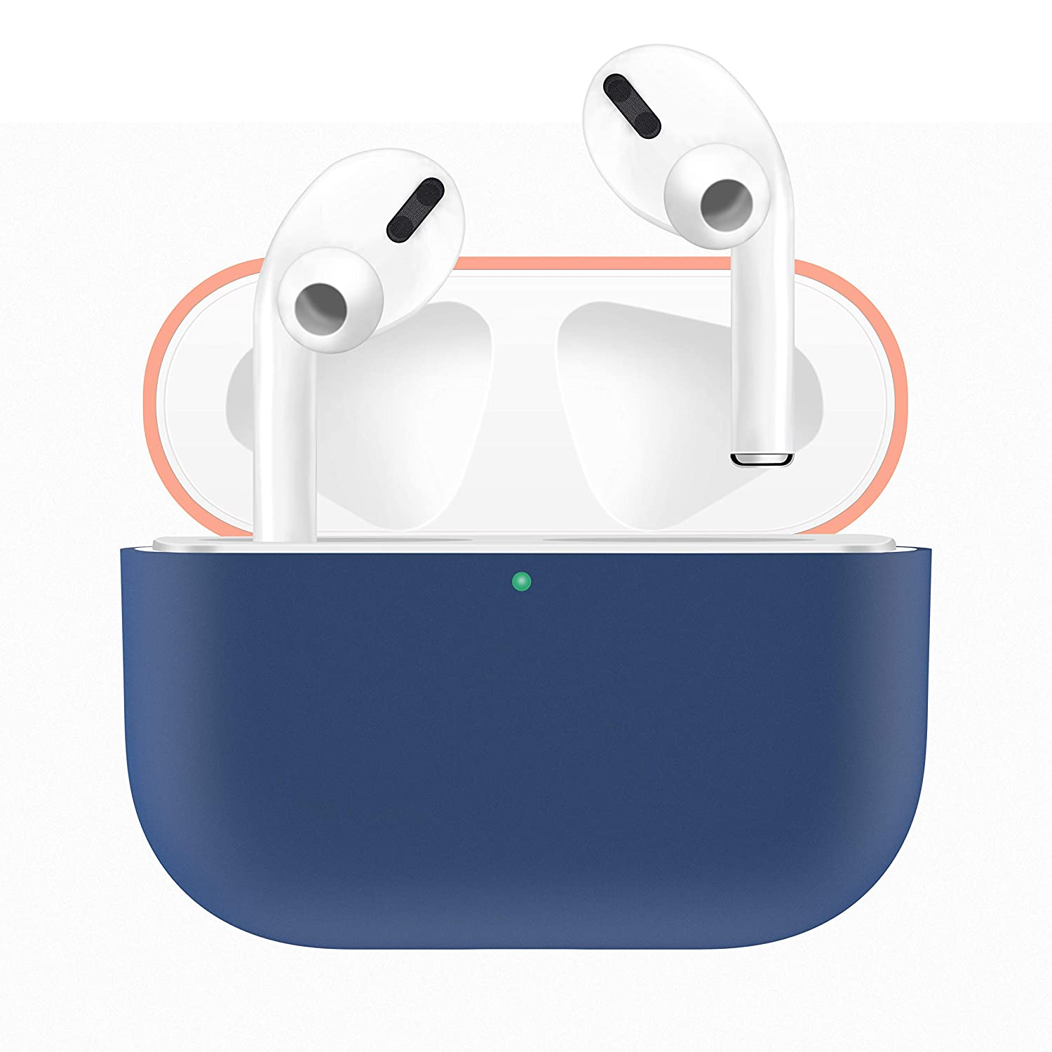 Aimtel Protective Case Compatible with Airpods Pro//Airpods 3 Case,Soft Silicone Shockproof Anti-Shock Case for Airpods Pro Navy Blue
