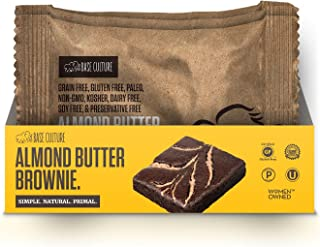 product image for Paleo Brownies, Chocolate with Almond Butter Drizzle, 100% Gluten Free Paleo Snack, 6g Protein Per Brownie, Crafted by Base Culture (2 Count)