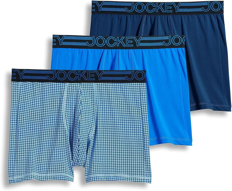 Jockey Men's Underwear Active Microfiber Boxer Brief - 3 Pack