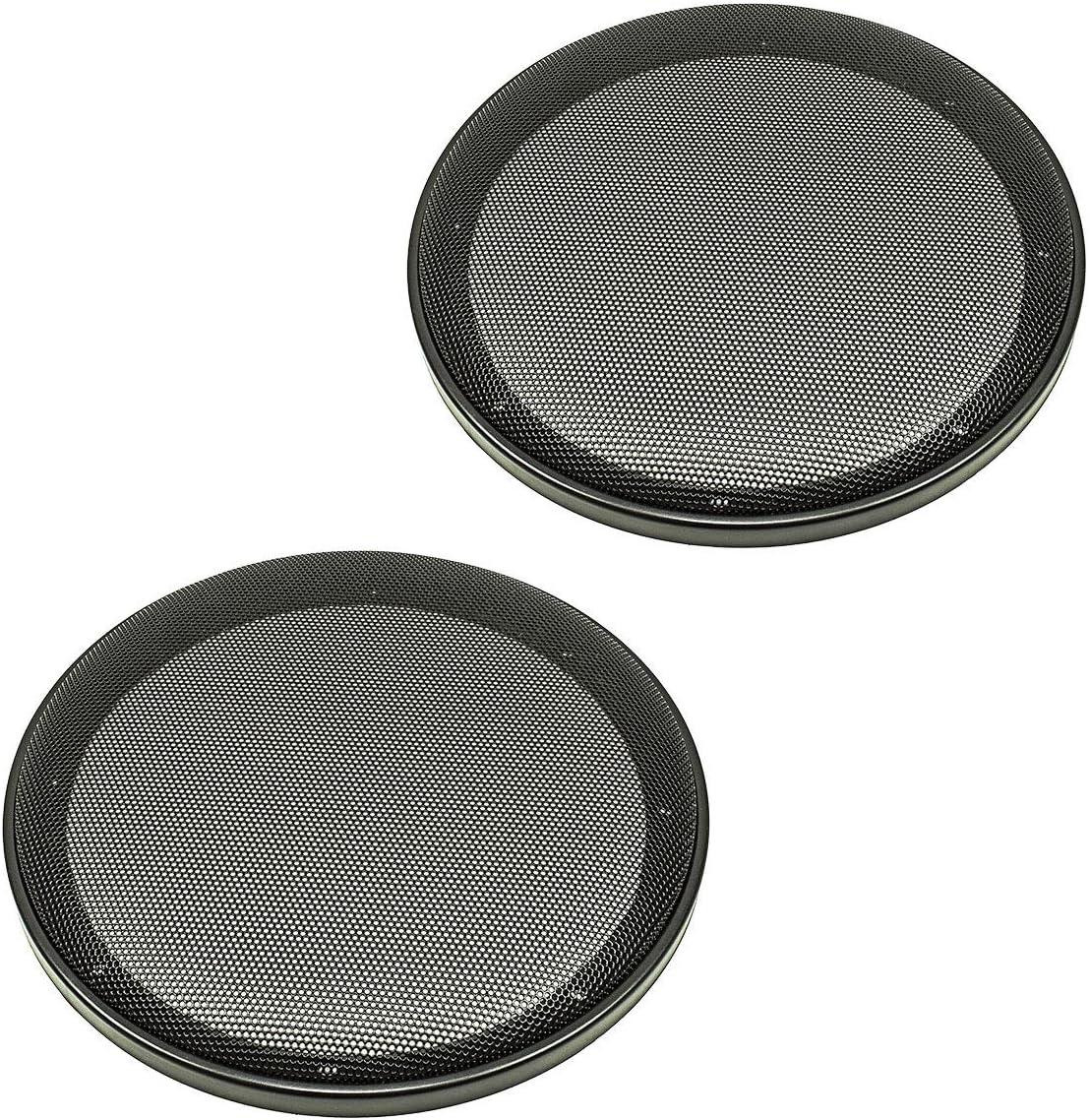 Set 2/pezzi di plastica Anello con griglia in metallo tomzz Audio 2800/ Nero /003/altoparlante griglia per altoparlante da 200/mm