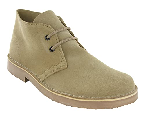 8b8d7b2039772 Roamer 2 Eye Desert Boots Mens Boys Real Suede Leather M400 Round Toe  UK3-12: Amazon.co.uk: Shoes & Bags