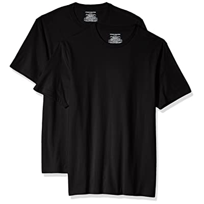 Essentials Men's Standard 2-Pack Slim-fit Short-Sleeve Crewneck T-Shirt: Clothing