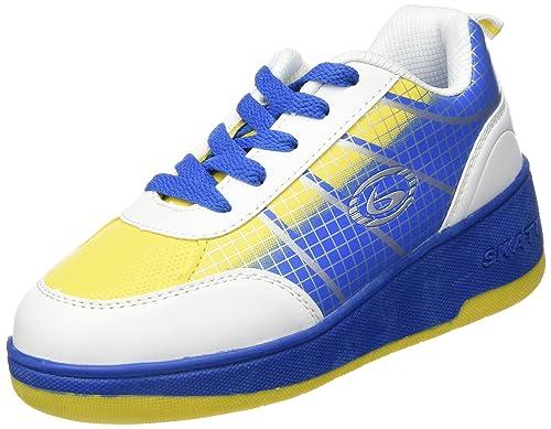 Beppi 2150430 - Zapatillas con Ruedas para niño, Color Blanco/Azul: Amazon.es: Zapatos y complementos