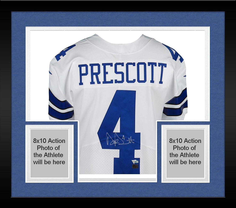detailed look ecab9 da38c Framed Dak Prescott Dallas Cowboys Autographed White Nike ...