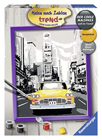 Ravensburger 28394 New York Taxi Malen Nach Zahlen 30x24 Cm