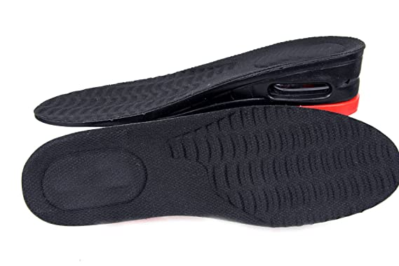 FreshGadgetz amortiguadora Alzas para Zapatos Plantillas Elevadoras Aumento 3-5cm en goma(Insoles with Red Line): Amazon.es: Salud y cuidado personal