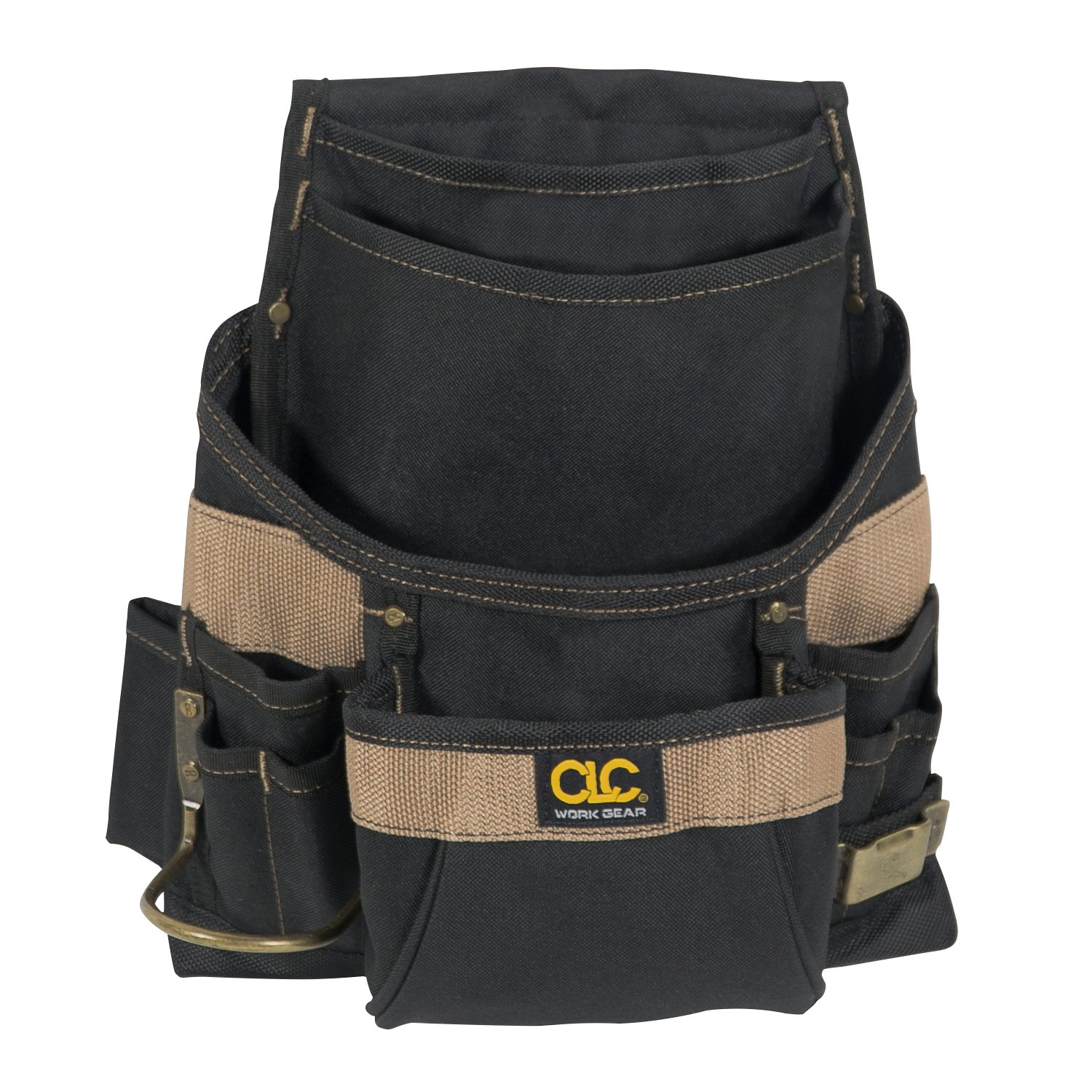 CLC Custom Leathercraft 1620 Poly Nail and Tool Bag, 11 Pockets