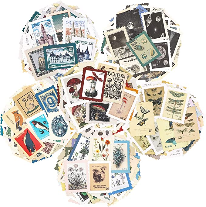 Cling Rubber Stamp Set  rubber stamps  ticker vintage label tag collage junk journal  label card marking theme m04 s21