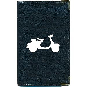 Etui carte grise noir en cuir papiers de voiture permis cycle  à personnalise Interieur Auto's, motoren: onderdelen en accessoires