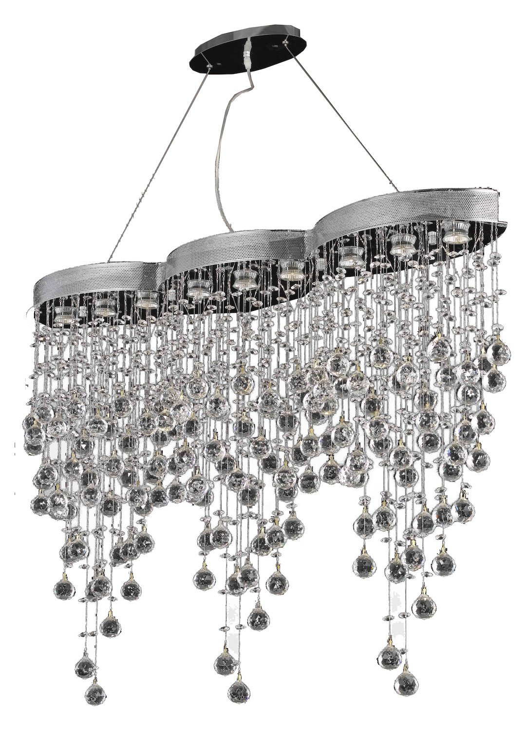 Galaxy Collection 9-Light Chrome Fix With Clear Swarovski Strass Crystal by Elegant Lighting