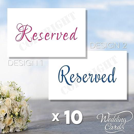 10 X Signe Réservé Nom Sièges Place Carte Mariage Fête D