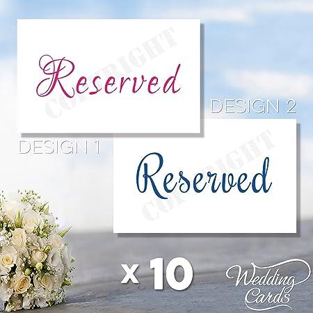 10 X Signe Reserve Nom Sieges Place Carte Mariage Fete D