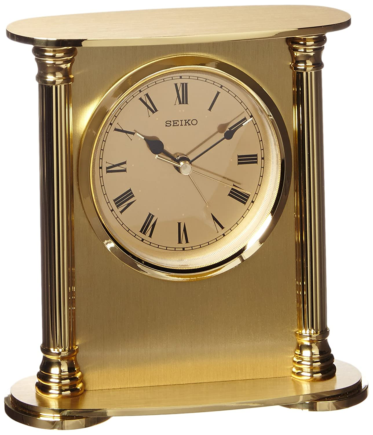 Wonderful Amazon.com: Seiko Desk And Table Alarm Clock Gold Tone Solid Brass Case:  Watches