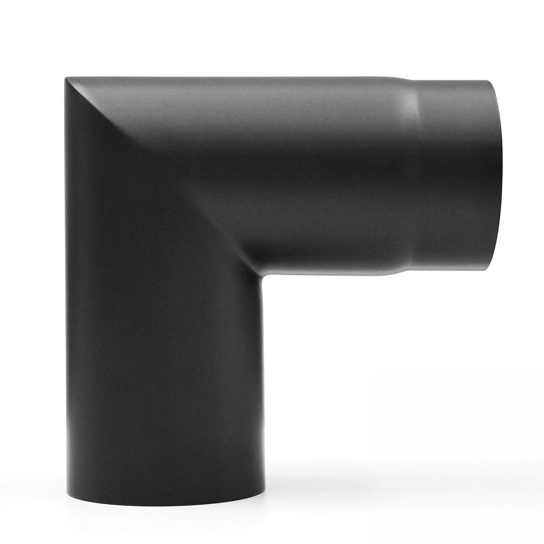 raik SH007-120-sw Rauchrohrbogen/Ofenrohr 120mm - 90° zweiteilig schwarz