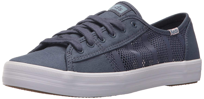 Keds Women's Kickstart Striped Mesh Sneaker B072YBD1ST 6 B(M) US|Indigo