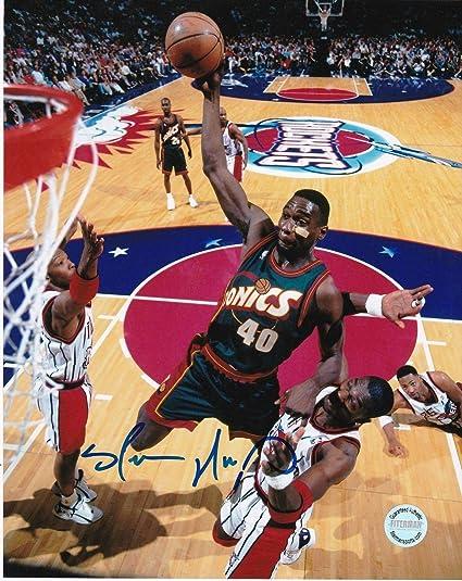 39e721385cf48 Shawn Kemp Autographed Photo - SUPER SONICS 8x10 - Autographed NBA ...