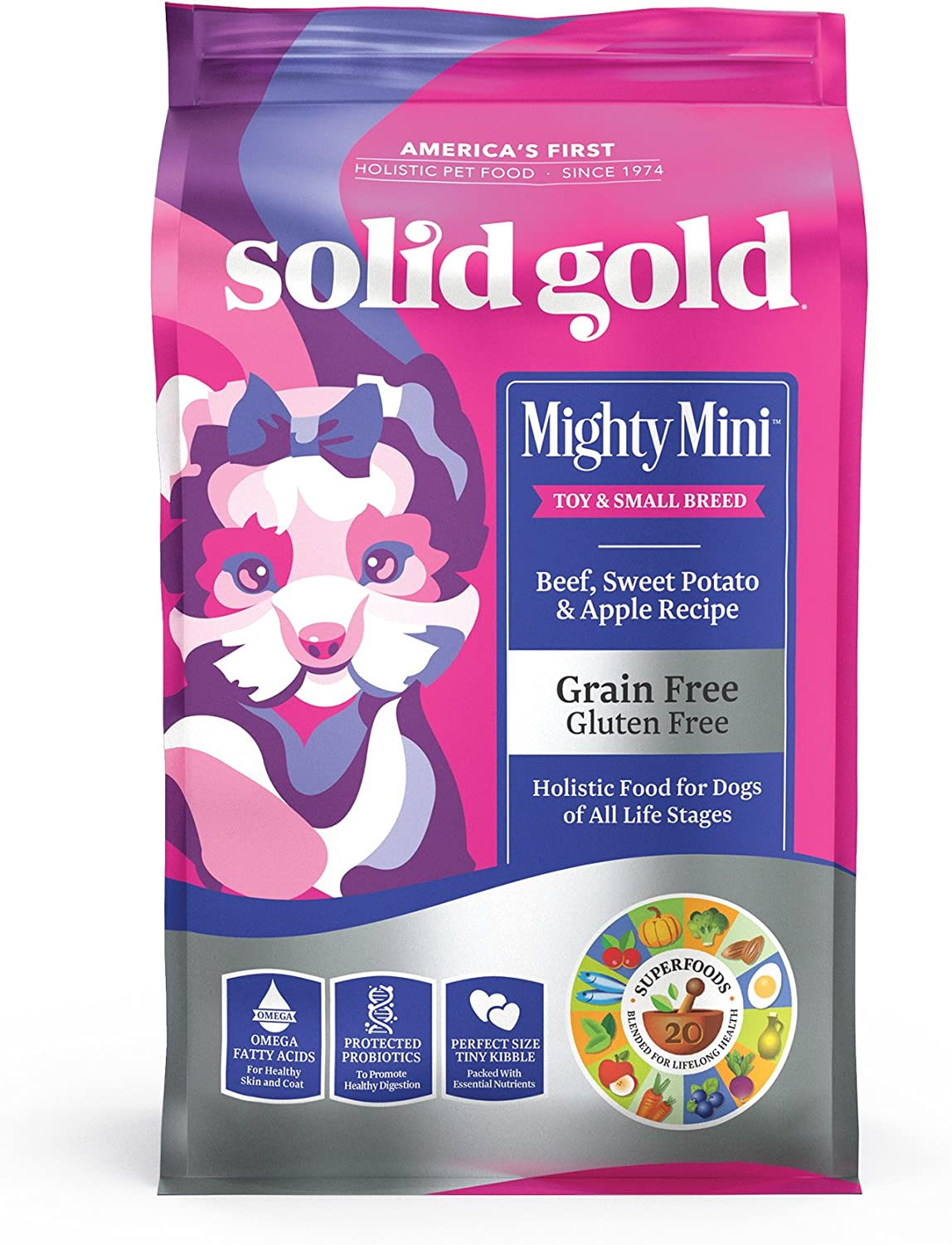 6. Solid Gold Mighty Mini Toy & Small Breed