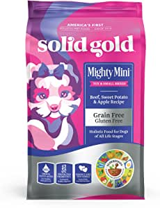 Solid Gold Mighty Mini - Sensitive Stomach - Probiotic Support - Grain-Free - Natural Holistic Dog Food for Toy & Small Breeds of All Life Stages