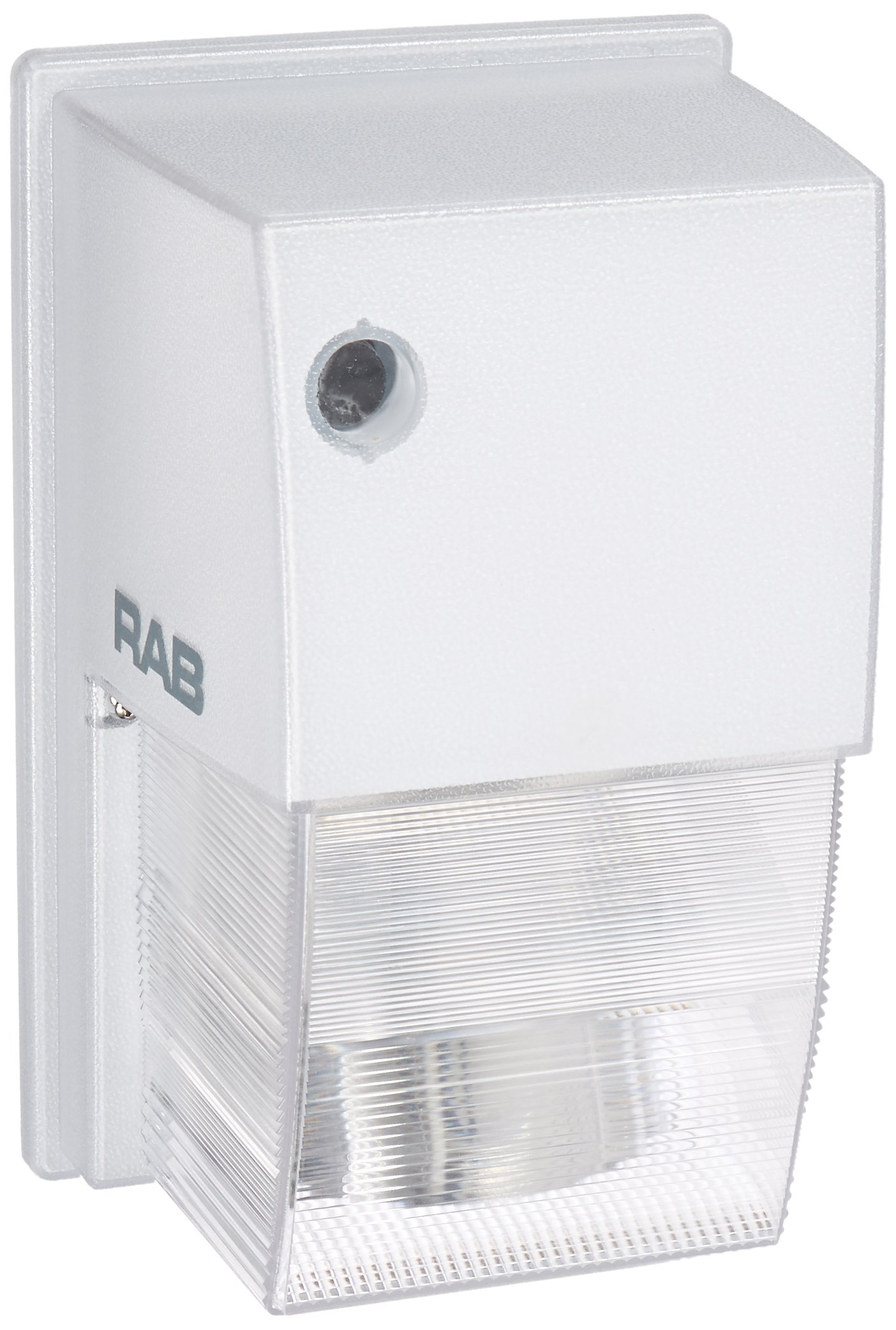 RAB Lighting WPTS50W Tallpack High Pressure Sodium Lamp with Polycarbonate Molded Refractor, ED17 Type, Aluminum, 50W Power, 4000 Lumens, 120V, White