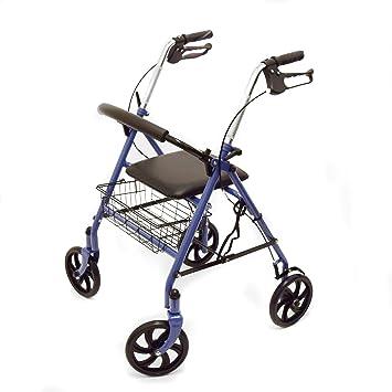 Ability Superstore - Andador Jay azul, ligero, 4 ruedas, con ...