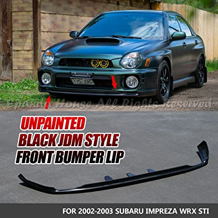 fa6b9d1c9cc Amazon.com  EpandaHouse For 02-03 Impreza WRX STi Paintable Front Bumper Lip  Under Spoiler Trim Body Kit  Automotive