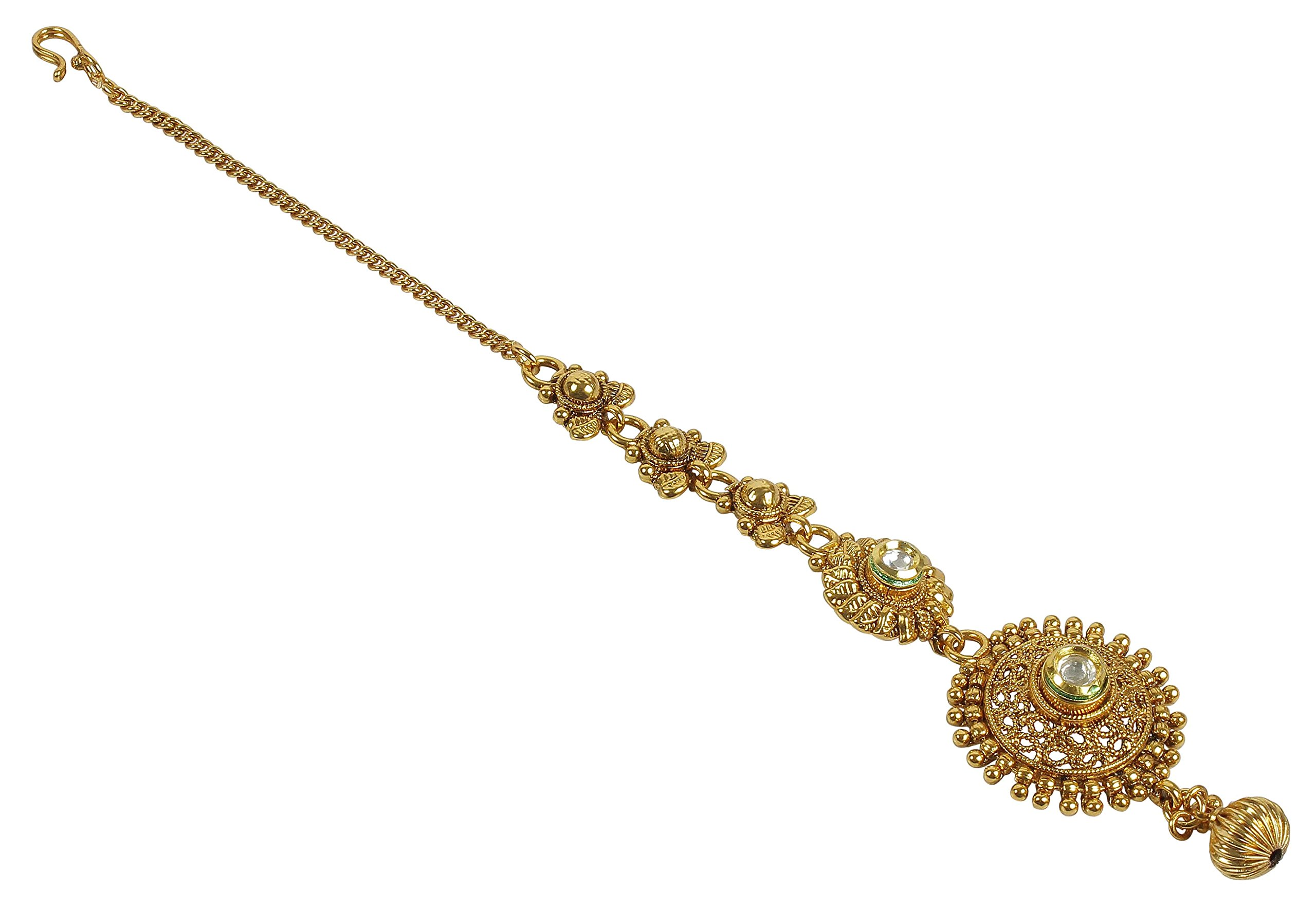 MUCH-MORE Indian Beautiful Style Party wear Maang Tikka Forehead Traditional Jewelry (2273)