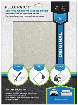 Pelle Patch - Parche Adhesivo de reparación para Cuero y Vinilo - Disponible en 25 Colores - Original 20cm x 28cm - Blanco Tiza