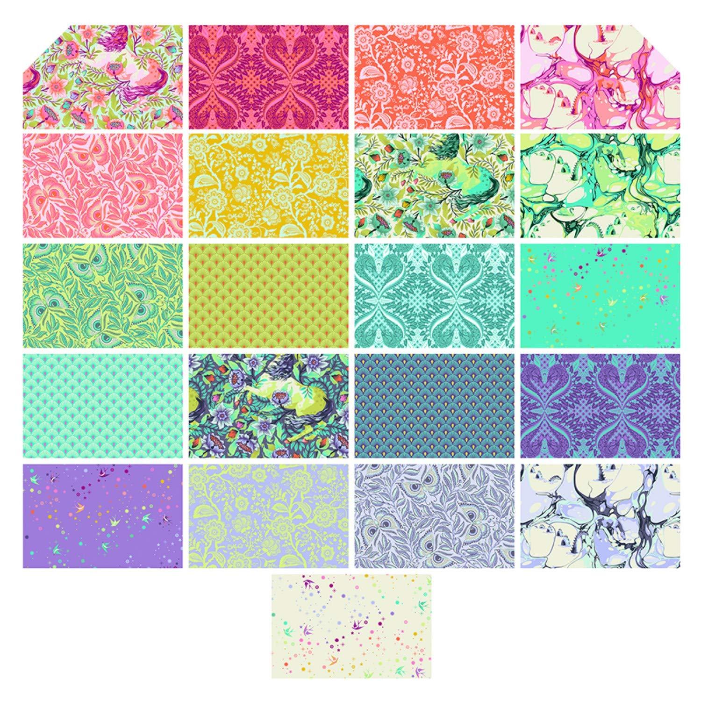 Tula Pink Pinkerville 10'' Squares 42 10-inch Squares Layer Cake Free Spirit by Free Spirit Fabrics