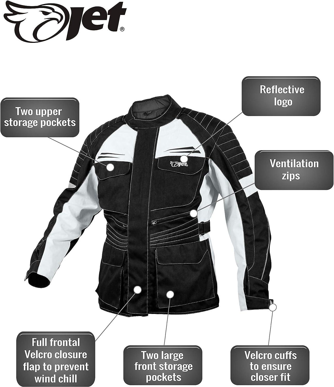 Jet Motorcycle Motorbike Jacket Mens Textile Waterproof CE Armoured Titan