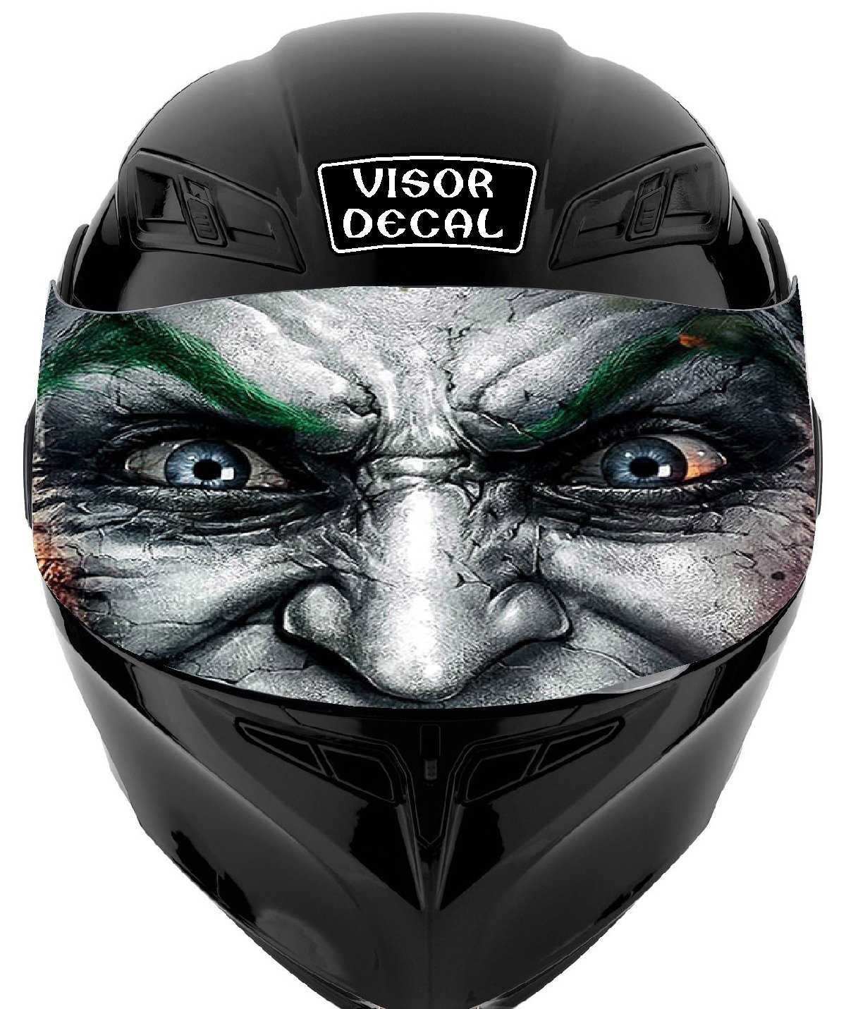 Amazon com v18 joker visor tint decal graphic sticker helmet fits icon shoei bell hjc oneal scorpion agv automotive