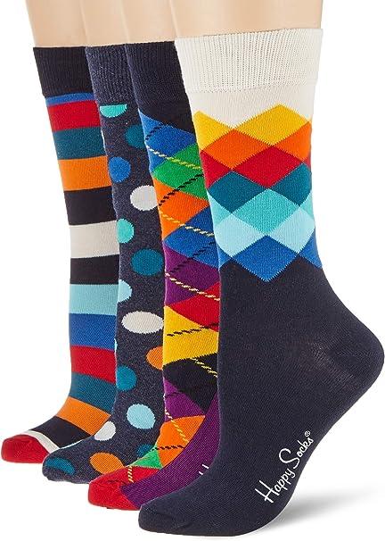 Happy Socks Mix Gift Box Calcetines (Pack de 4) para Mujer: Amazon.es: Ropa y accesorios